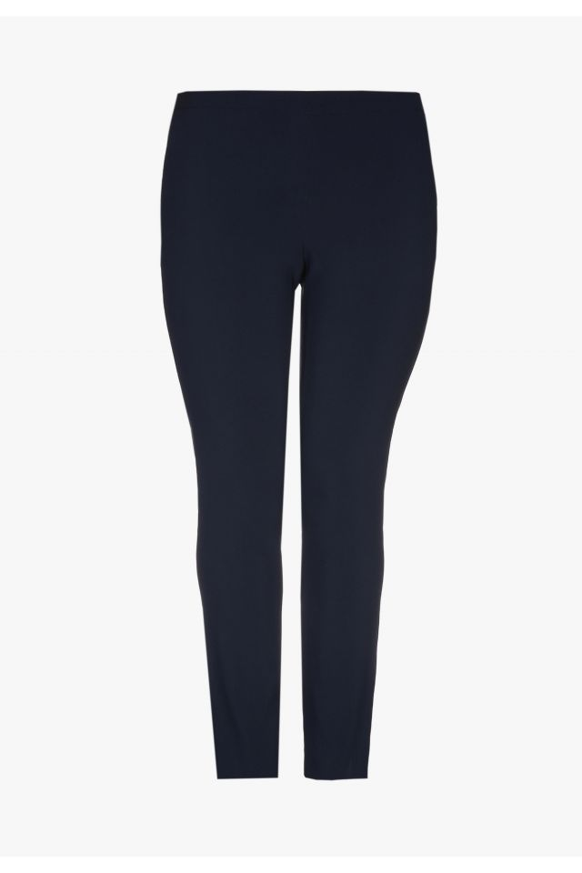 Smart navy-blue business trousers