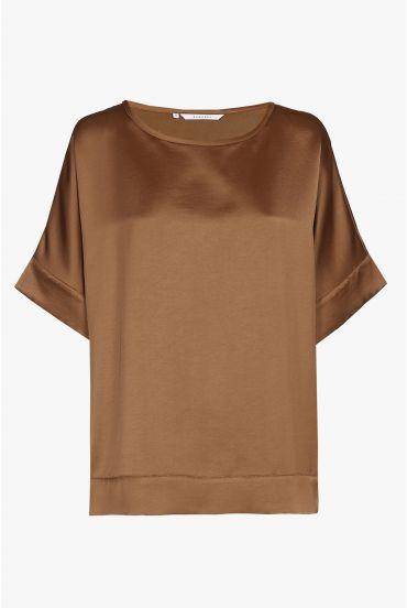 Brown T-shirt with short sleeves