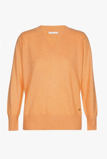 Orange cashmere jumper