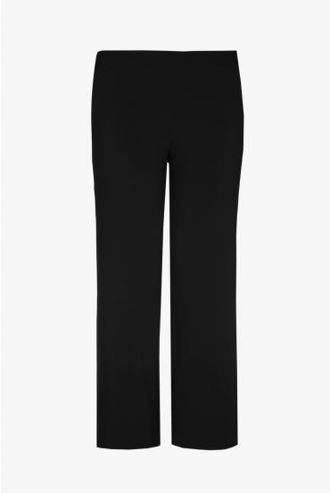 Black, loose-fitting trousers